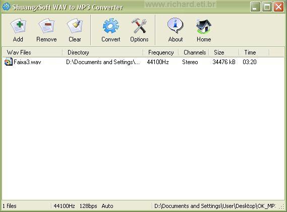 Converter WAV para MP3